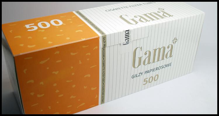«GAMA» гильзы для сигарет 500 штук