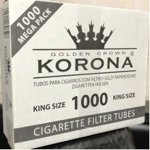 Сигаретные гильзы «КОРОНА» 1000 шт в плотной упаковке